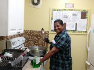 Photo of Brijida Marcano in a kitchen